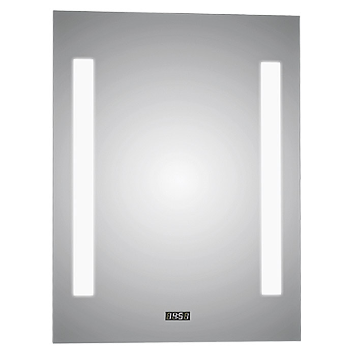 LED LICHTSPIEGEL CHRYSTAL CREEK 50X70cm M.UHR
