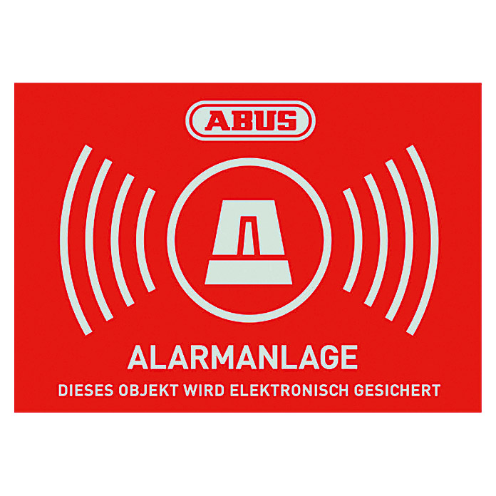 abus aufkleber alarmanlage 72 x 52 5 mm bauhaus. Black Bedroom Furniture Sets. Home Design Ideas