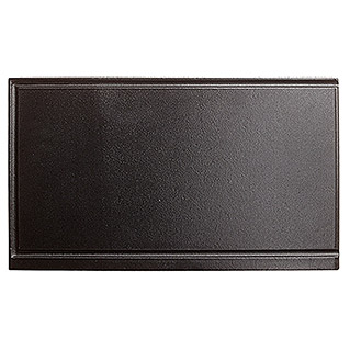 Kingstone Placa para barbacoa Rock 200 + 450 (26 x 44,5 cm, Hierro fundido)