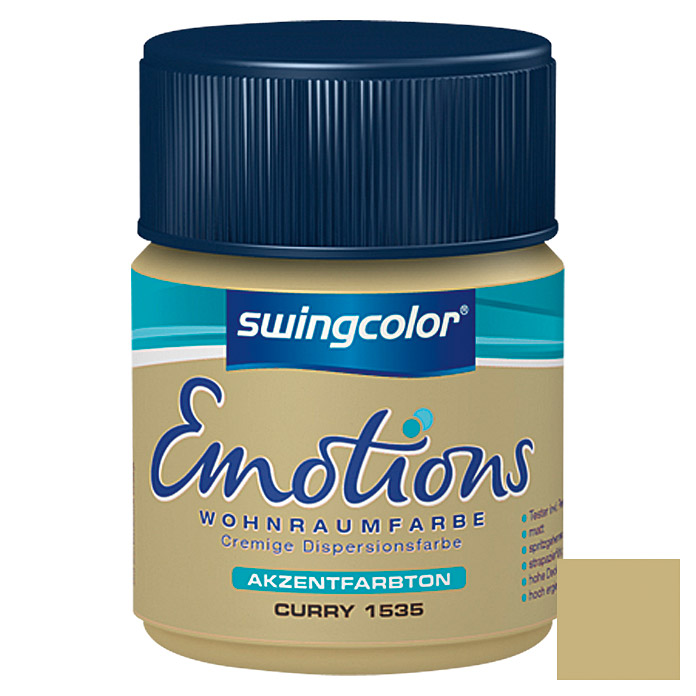 swingcolor Wohnraumfarbe Emotions Tester (Curry, 50 ml)