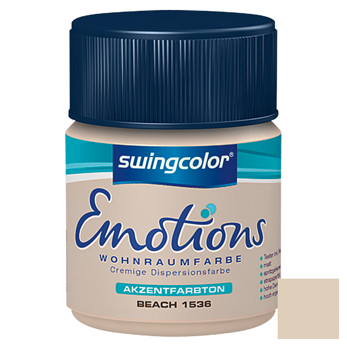 swingcolor Wohnraumfarbe Emotions Tester (Beach, 50 ml)