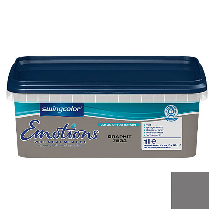 swingcolor Wohnraumfarbe Emotions (Graphit, 1 l)