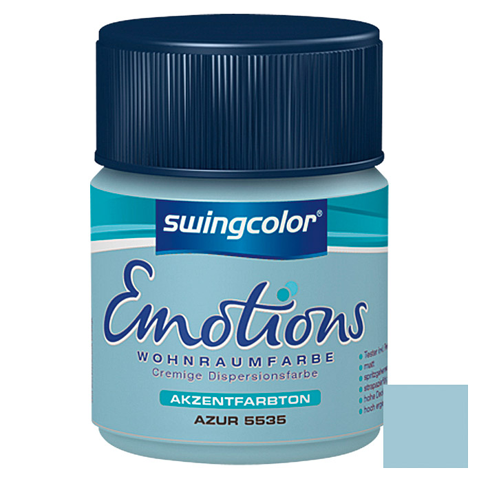 swingcolor Wohnraumfarbe Emotions Tester (Azur, 50 ml)