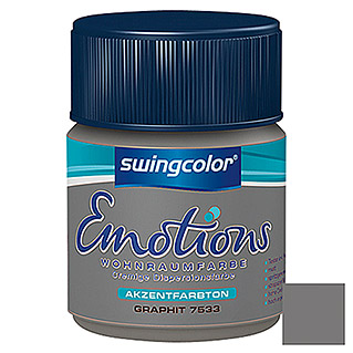 swingcolor Wohnraumfarbe Emotions Tester (Graphit, 50 ml)