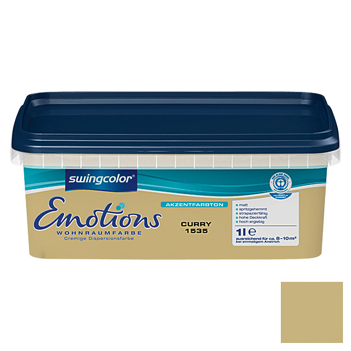 swingcolor Wohnraumfarbe Emotions (Curry, 1 l)