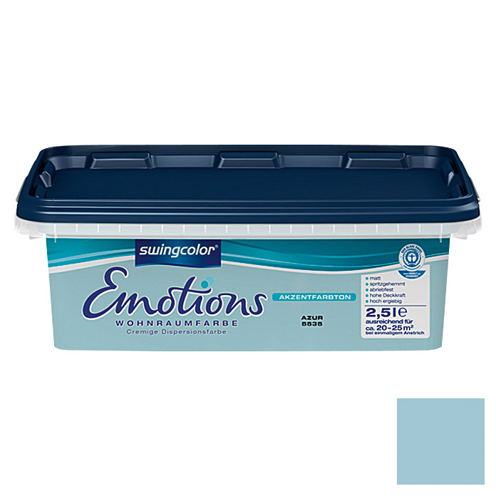 swingcolor Wohnraumfarbe Emotions (Azur, 2,5 l)