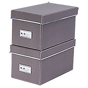 CD BOX 2ER SET TAUPE28X16X15cm
