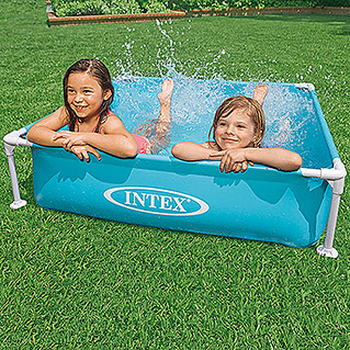 Intex Planschbecken Frame Pool Mini (Blau, 122 x 122 x 30 cm)