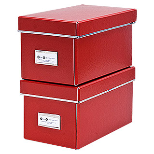 CD BOX 2ER SET ROT  28X16X15cm