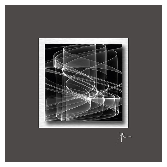 Acrylglasbild  (Graphic waves black, 50 x 50 cm)