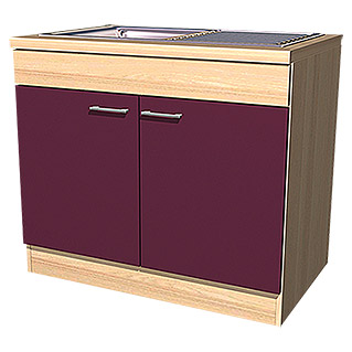 sofia herd umbauschrank 57 x 60 x 86 cm dekor front akazie aubergine bauhaus. Black Bedroom Furniture Sets. Home Design Ideas