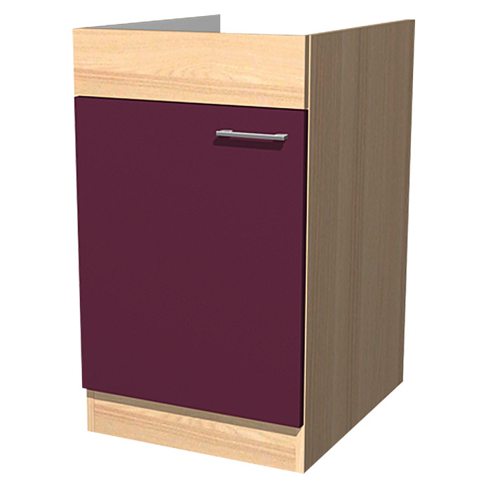 sofia sp lenunterschrank 57 x 50 x 82 2 cm dekor front akazie aubergine bauhaus. Black Bedroom Furniture Sets. Home Design Ideas