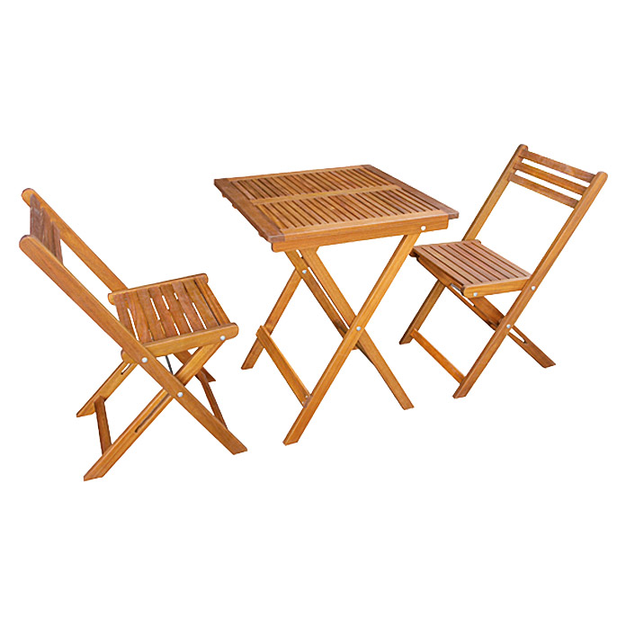 sunfun diana balkonm bel set 3 tlg holz naturbraun bauhaus sterreich. Black Bedroom Furniture Sets. Home Design Ideas
