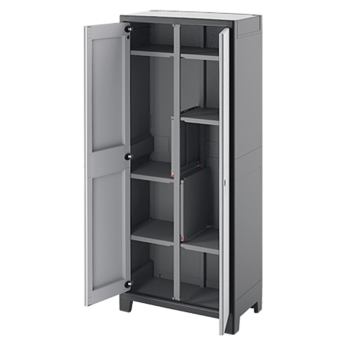 regalux kunststoffschrank space line multispace hoch traglast 15 kg boden bauhaus. Black Bedroom Furniture Sets. Home Design Ideas