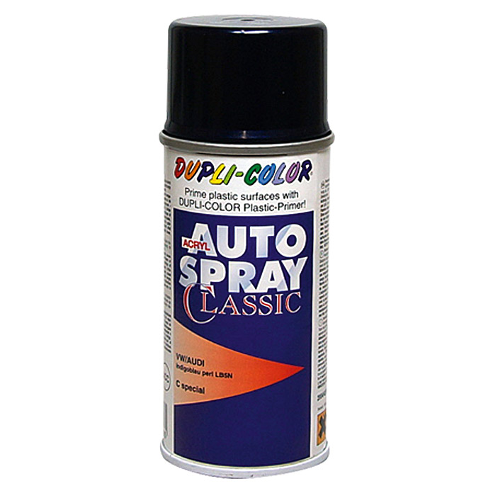 Dupli-Color Acryl-Autospray Classic (Audi / VW, Indigoblau Perl, 150 ml)