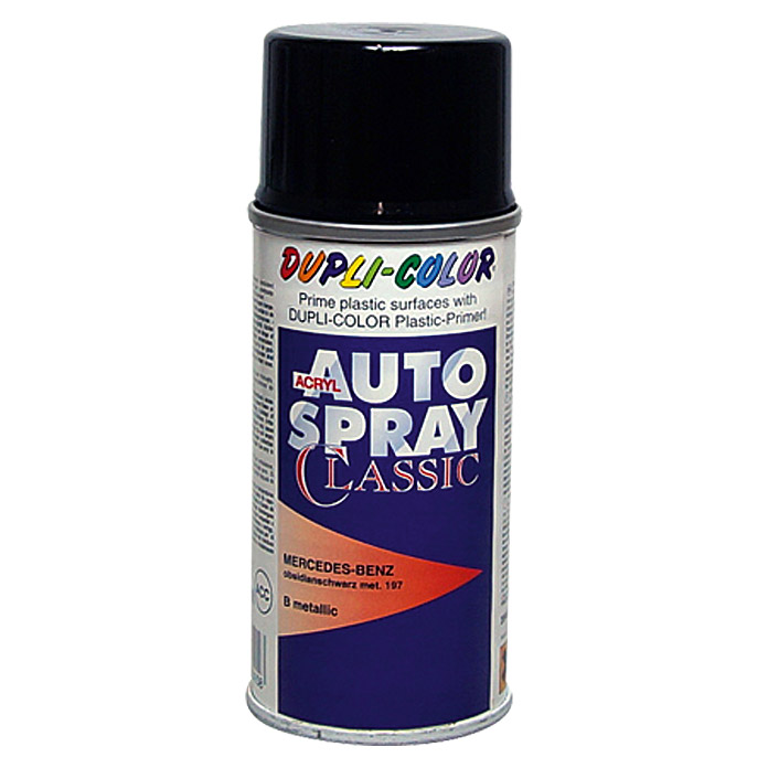 Dupli-Color Acryl-Autospray Classic (Mercedes Benz, Obsidianschwarz Metallic)