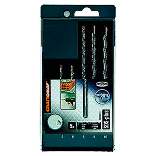 Craftomat Set de brocas para hormigón SDS-Plus (5 piezas, 5 mm - 10 mm)