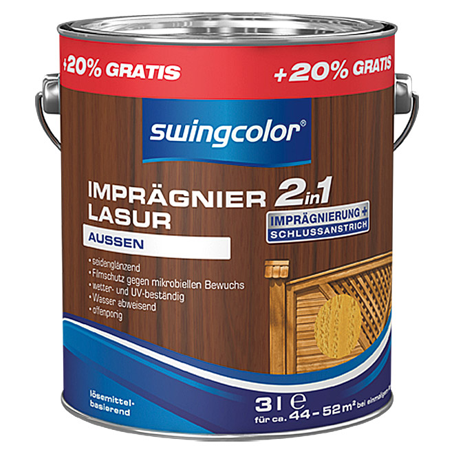 swingcolor 2in1 Imprägnierlasur  (Kiefer, 3 l)