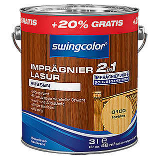 swingcolor 2in1 Imprägnierlasur  (Farblos, 3 l)