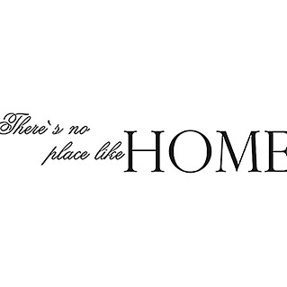 Wandspruch There's no place like HOME (Schwarz, 120 x 25 cm)