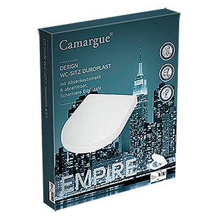 Camargue Empire Toiletzitting (Softclose, Duroplast, Wit)