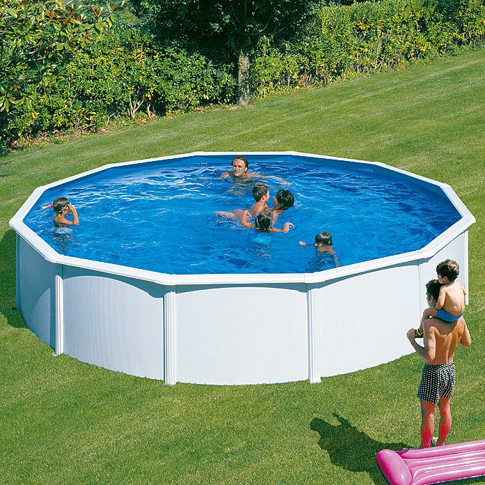 pool komplettset pool zum aufstellen gartenpool zum aufstellen kunstrasen pool set easy set. Black Bedroom Furniture Sets. Home Design Ideas