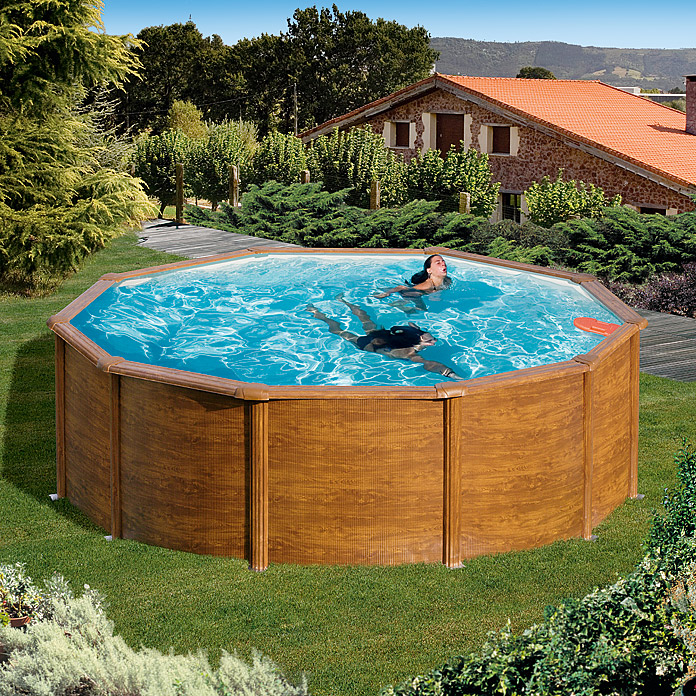 POOLSET FEELING HOLZ7,30X 3,75 X 1,20m