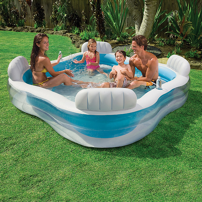 Intex gartenpool family lounge 229 x 229 x 66 cm 0 88 m for Garten pool intex