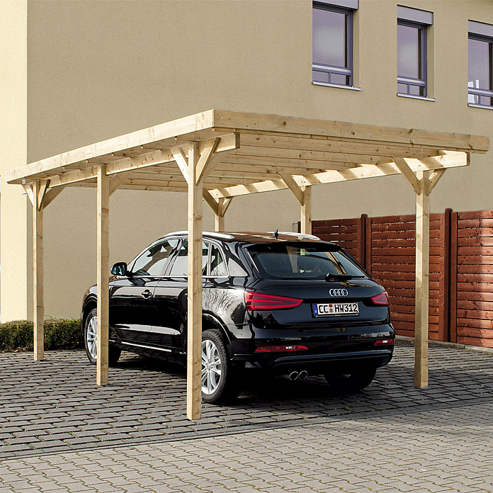carport 5 02 x 3 m einfahrtsh he 2 13 m bauhaus. Black Bedroom Furniture Sets. Home Design Ideas