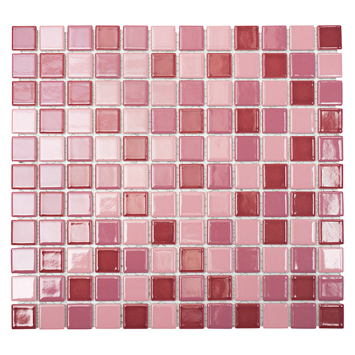 mosaikfliese quadrat mix jt 240 33 x 30 2 cm rosa. Black Bedroom Furniture Sets. Home Design Ideas