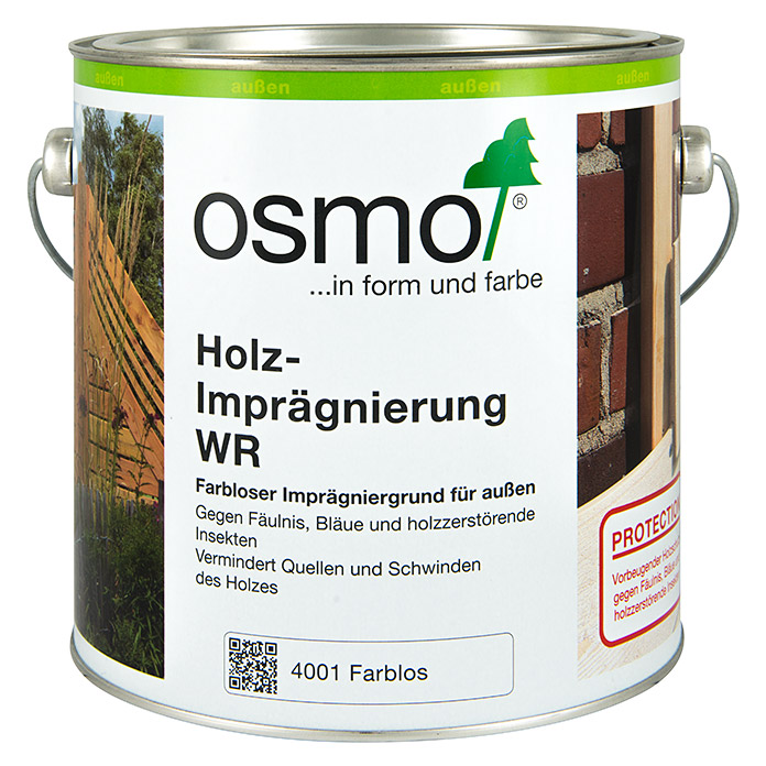 osmo holz impr gnierung wr 2 5 l farblos bauhaus. Black Bedroom Furniture Sets. Home Design Ideas