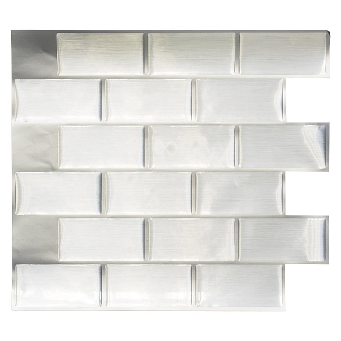 VINYL MOSAIK STEEL SUBWAY SVM 24002 4ER PACK