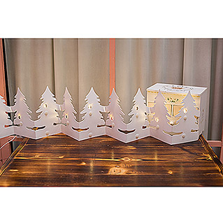 Tween Light LED-Deko-Baum Papiertannenbaum (Innen, 12-flammig, 1,2 m, Warmweiß)
