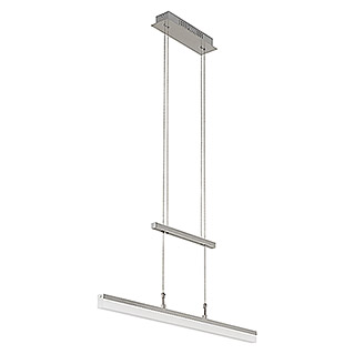 LED-Pendelleuchte (1-flammig, 20 W, Warmweiß, Nickel matt, Höhenverstellbar: 90 - 175 cm)
