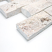 .BRICK SPLITFACE SILVER TRAVERTINE3 D X3D 42781