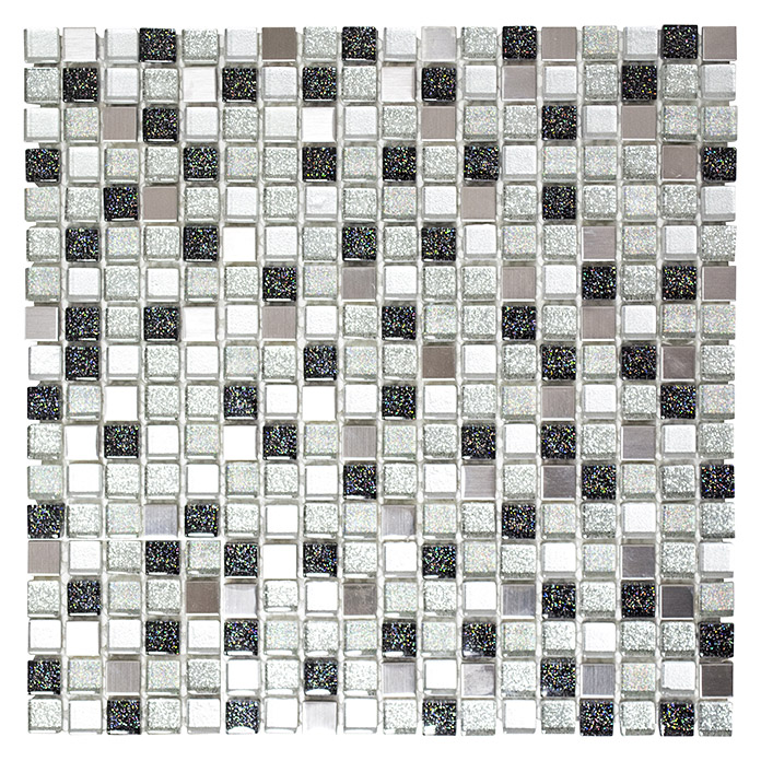 Mosaikfliese Crystal Mix XCE 88 (Silber)