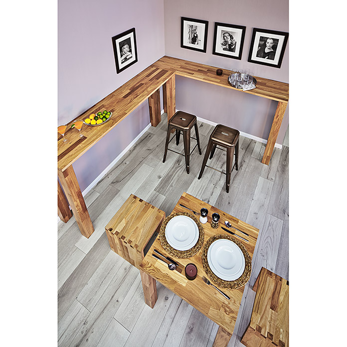 Exclusivholz Aspen Tablero para banco (Roble, 200 x 45 x 3,2 cm)