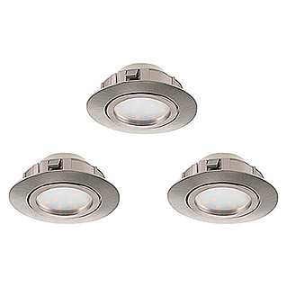 Tween Light LED-Einbauleuchten-Set (3 x 6 W, Nickel matt, 84 mm, Dimmbar)