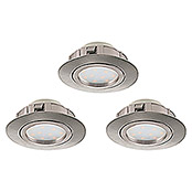 Tween Light LED-Einbauleuchten-Set (3 x 6 W, Nickel matt, 84 mm, Nicht Dimmbar)
