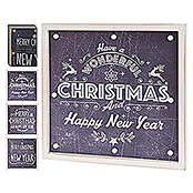 LED FRAME CHRISTMAS 38x38cm SORT