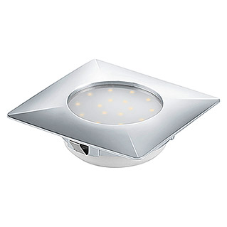 Tween Light LED-Einbauleuchte (12 W, Warmweiß, 102 x 102 mm, Chrom)
