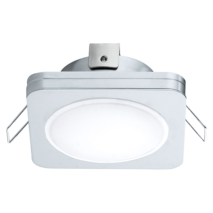 Tween Light LED-Einbauleuchte (6 W, Warmweiß, 82 x 82 mm, Chrom)