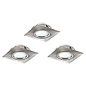 SET 3XLED-EINBAUSPOT84X84 NICKEL-M.