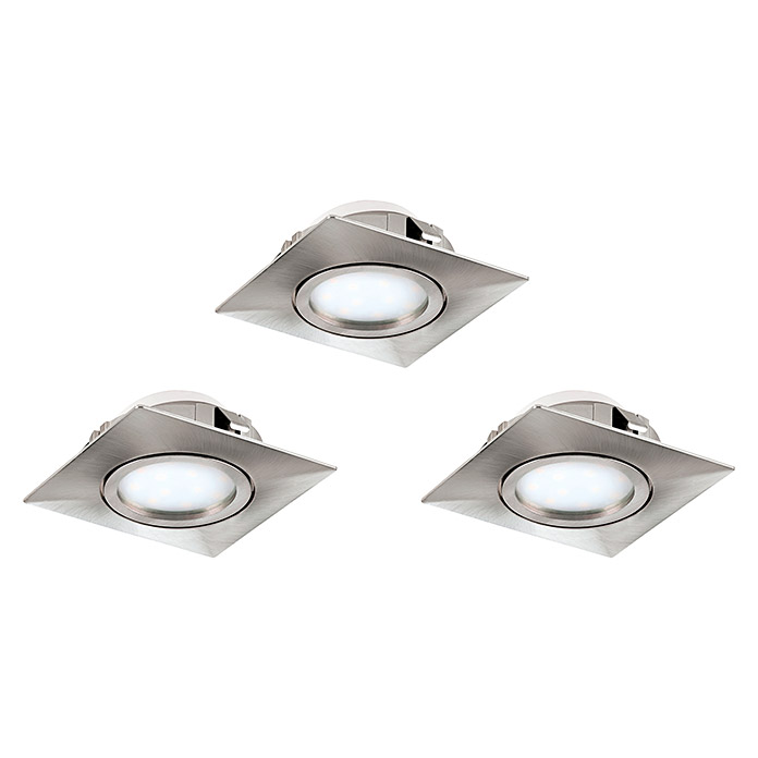 Tween Light LED-Einbauleuchten-Set  (Quadratisch, Nickel matt)