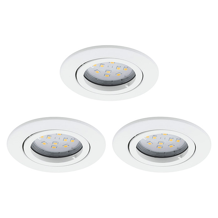 SET 3XEINBAUSPOT GU10-LED 5W 3000K CHROM