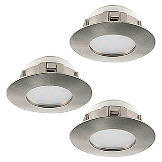Tween Light LED-Einbauleuchten-Set (3 x 6 W, Warmweiß, Rund, Nickel matt, 3 Stk.)