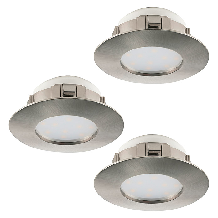 Tween Light LED-Einbauleuchten-Set  (Rund, Nickel matt)