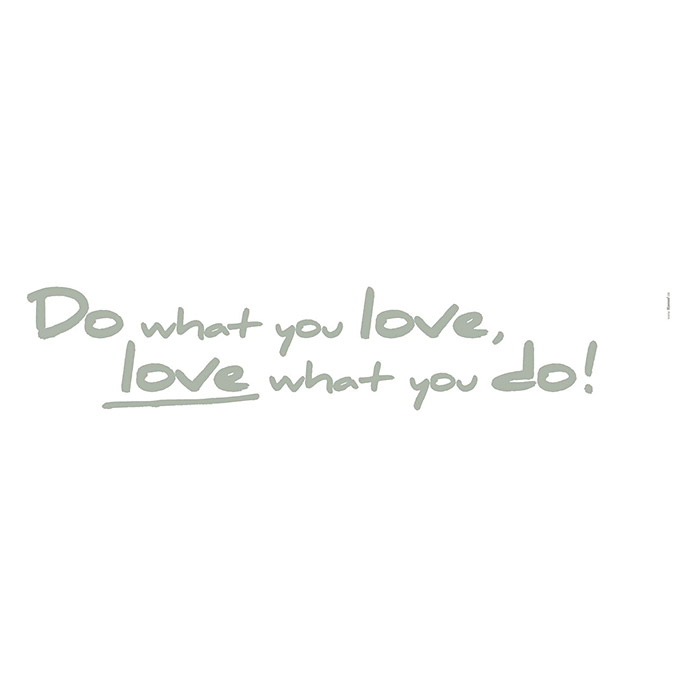 Komar Dekosticker (Do what you love, Olivgrün, 70 x 14 cm)