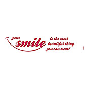 DEKOSTICKER YOUR    SMILE 14x70 cm