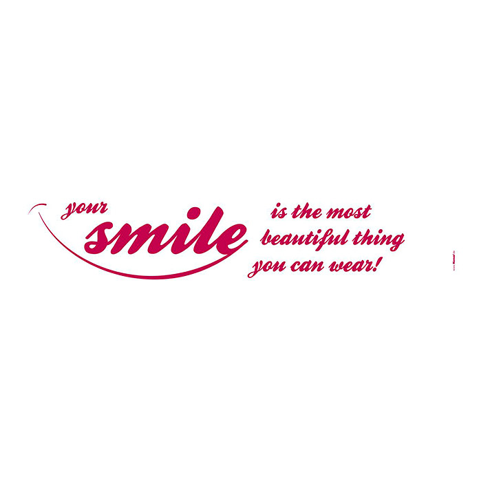 Komar Dekosticker  (Your Smile, 70 x 14 cm)